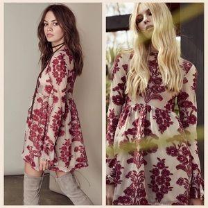 For Love and Lemons Temecula Mini Dress Red